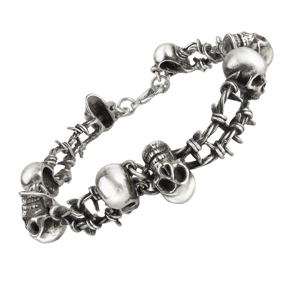 Barbed Wire Bracelet | Alchemy Gothic No Man S Land Chain Bracelet Pahis Mega Store