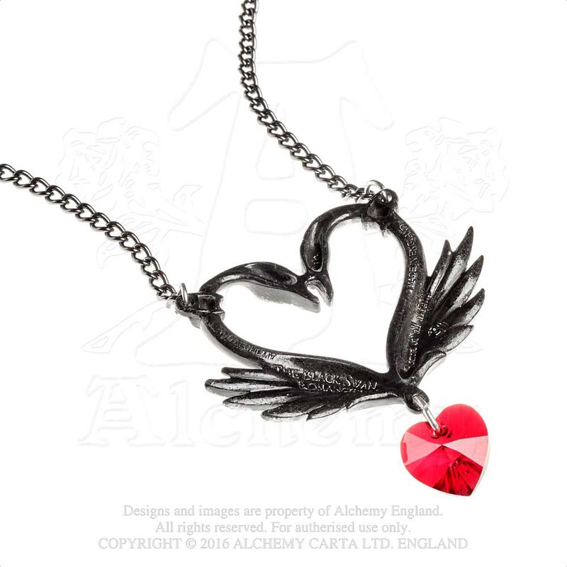 Alchemy Gothic The Black Swan Romance - Necklace