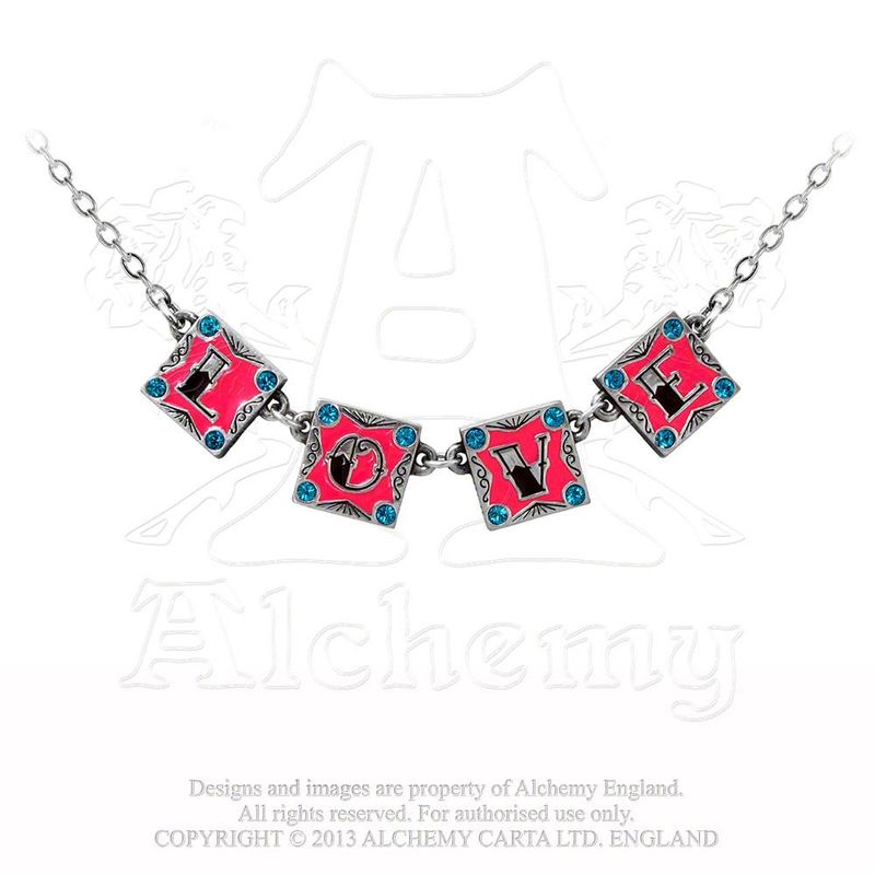 Alchemy Gothic I Love, I hate - Necklace