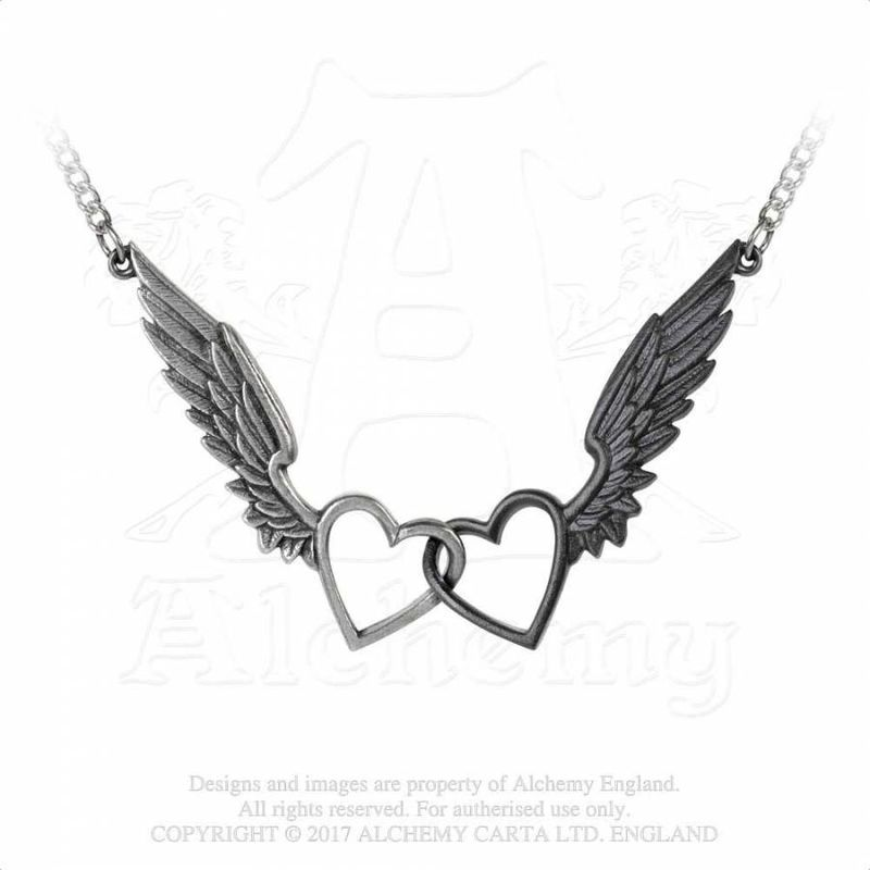 Alchemy Gothic Wings Of Love - Necklace